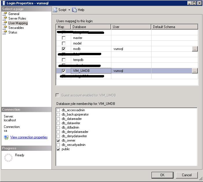manage sql database